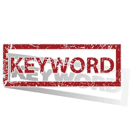 keyword: KEYWORD outlined stamp