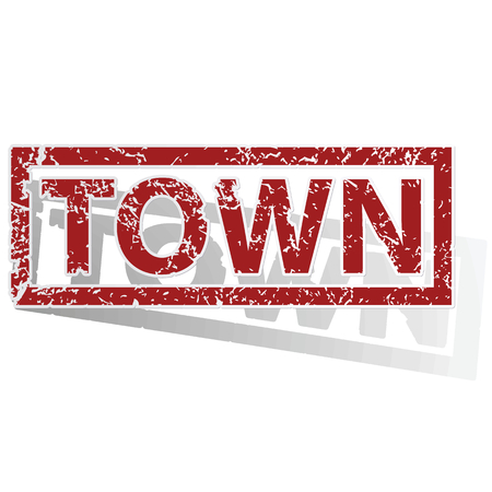 archive site: TOWN outlined stamp