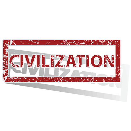 civilization: CIVILIZATION outlined stamp