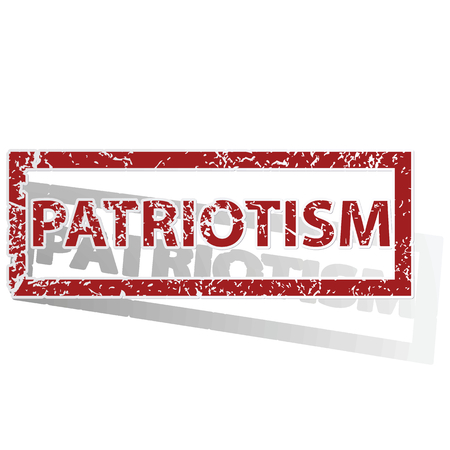 archive site: PATRIOTISM outlined stamp