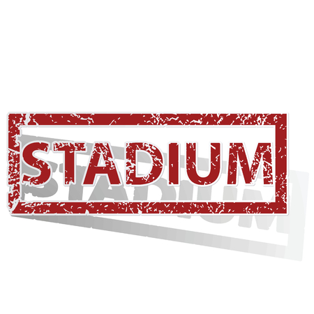 archive site: STADIUM outlined stamp Illustration