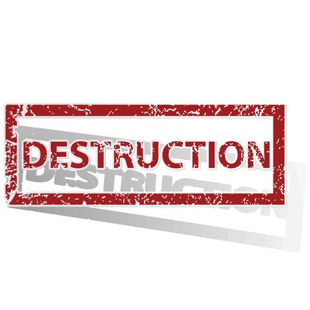 destruction: DESTRUCTION outlined stamp