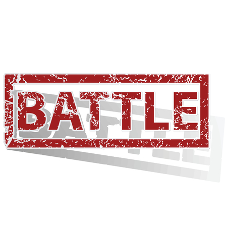 archive site: BATTLE outlined stamp
