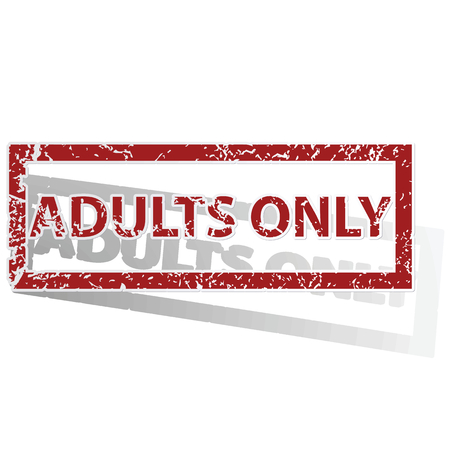 adults only: ADULTS ONLY outlined stamp Illustration