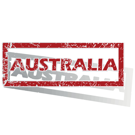 australia stamp: Australia outlined stamp