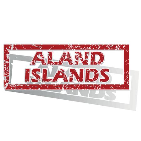 is outlined: Aland Islands outlined stamp