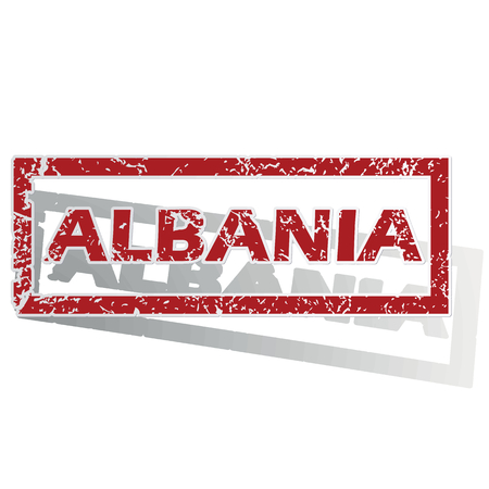 is outlined: Albania outlined stamp Illustration