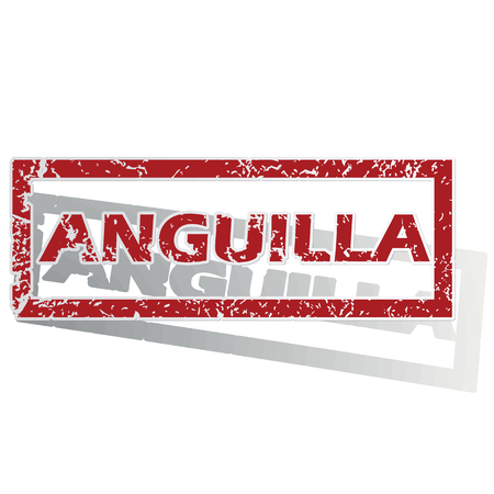 anguilla: Anguilla outlined stamp