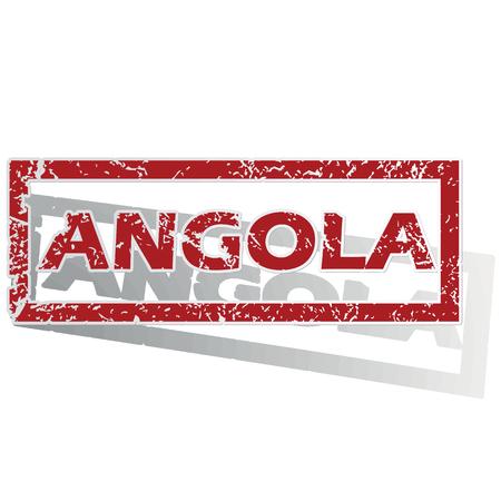 angola: Angola outlined stamp