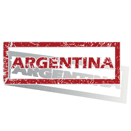 outlined: Argentina outlined stamp