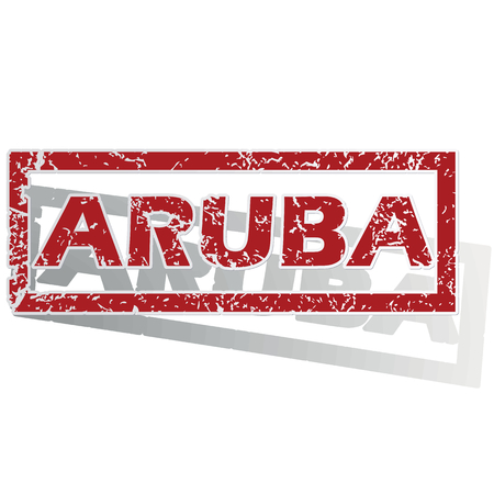 aruba: Aruba outlined stamp