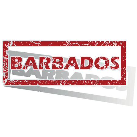 barbados: Barbados outlined stamp