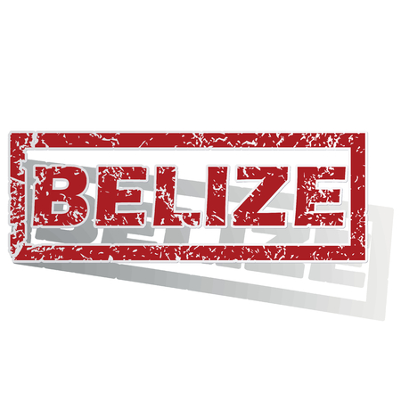outlined: Belize outlined stamp