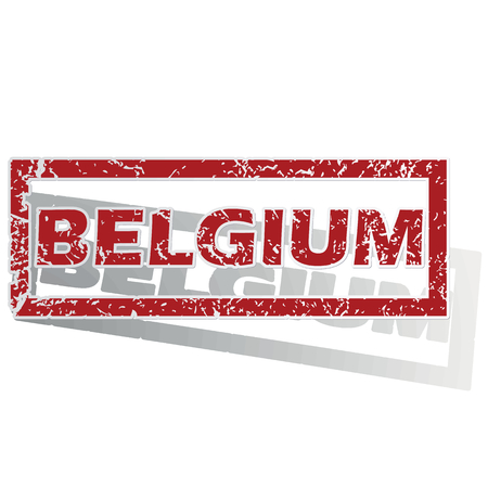 is outlined: Belgium outlined stamp
