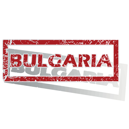 outlined: Bulgaria outlined stamp