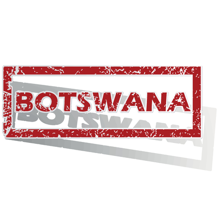 outlined: Botswana outlined stamp Illustration