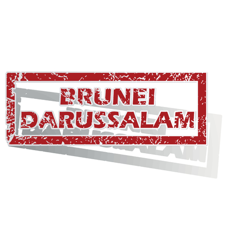 outlined: Brunei Darussalam outlined stamp