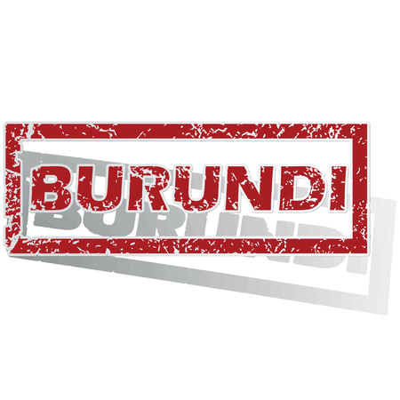 burundi: Burundi outlined stamp Illustration