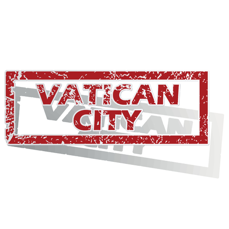 outlined: Vatican City outlined stamp