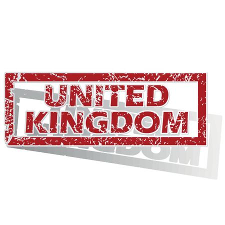 is outlined: United Kingdom outlined stamp Illustration