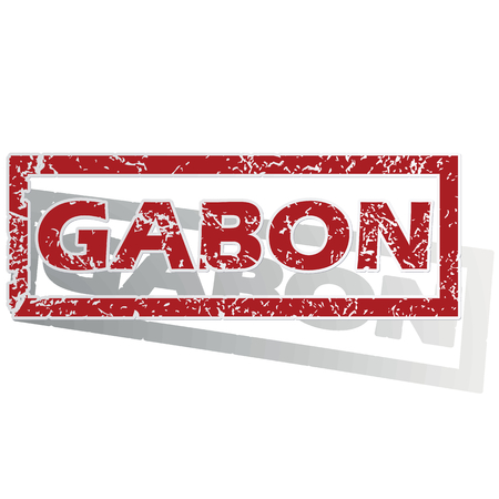 gabon: Gabon outlined stamp