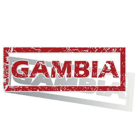outlined: Gambia outlined stamp