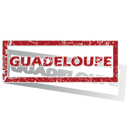 guadeloupe: Guadeloupe outlined stamp Illustration