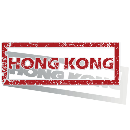 outlined: Hong Kong outlined stamp