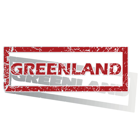 greenland: Greenland outlined stamp Illustration
