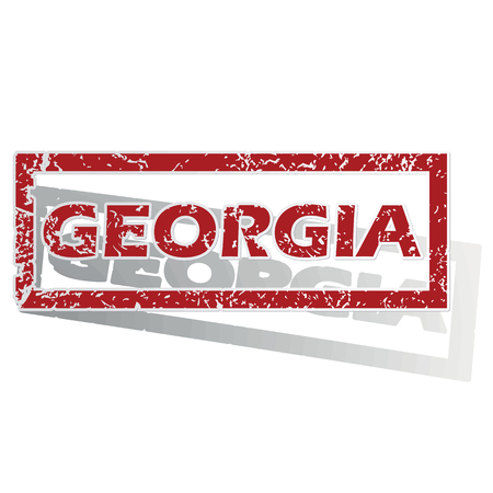 is outlined: Georgia outlined stamp