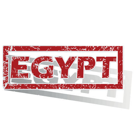 is outlined: Egypt outlined stamp