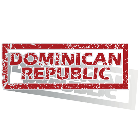 is outlined: Dominican Republic outlined stamp