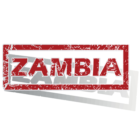 zambia: Zambia outlined stamp