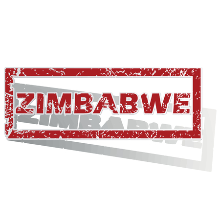 is outlined: Zimbabwe outlined stamp