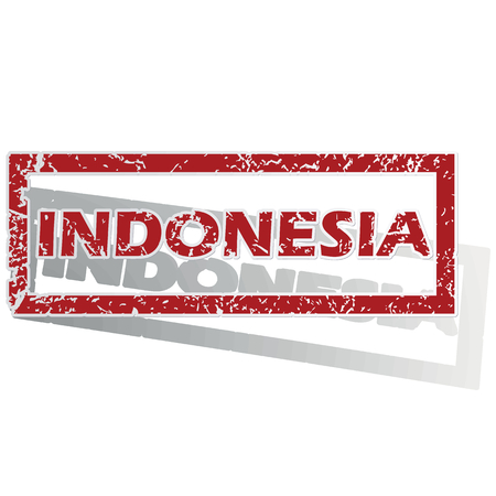 is outlined: Indonesia outlined stamp