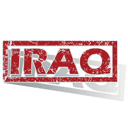 outlined: Iraq outlined stamp
