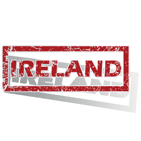 outlined: Ireland outlined stamp Illustration