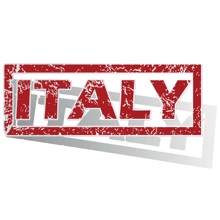 is outlined: Italy outlined stamp Illustration