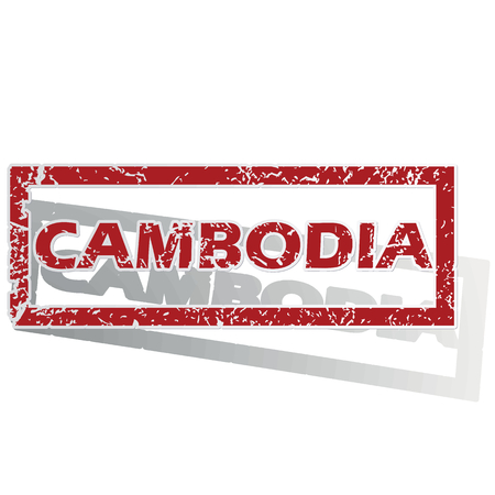 is outlined: Cambodia outlined stamp