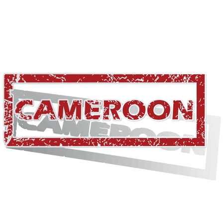 is outlined: Cameroon outlined stamp Illustration