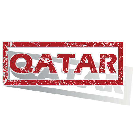 is outlined: Qatar outlined stamp