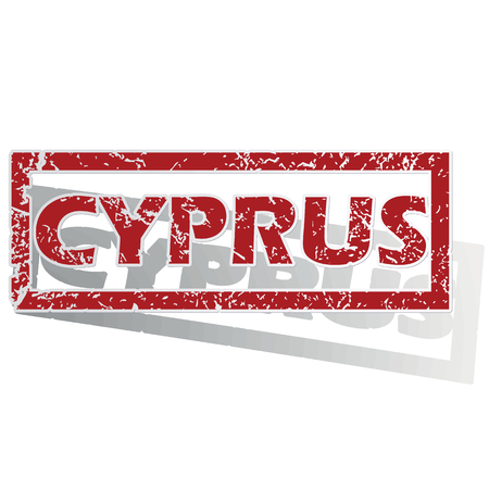 cyprus: Cyprus outlined stamp