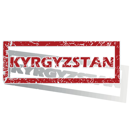 kyrgyzstan: Kyrgyzstan outlined stamp