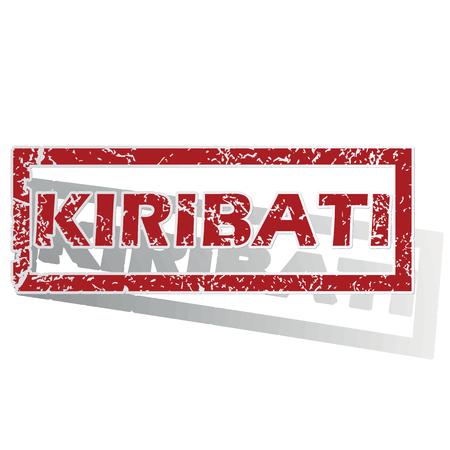 land mark: Kiribati outlined stamp