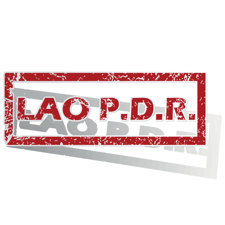 lao: Lao PDR outlined stamp