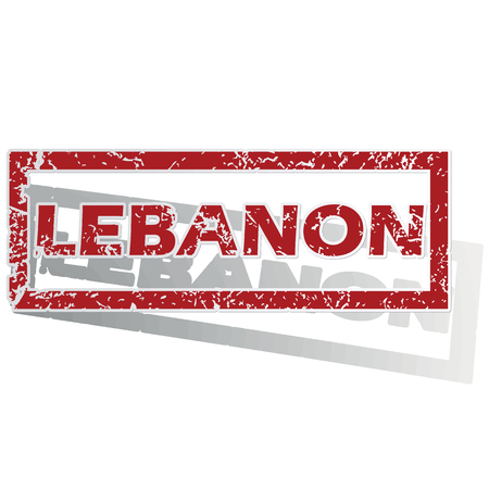 outlined: Lebanon outlined stamp