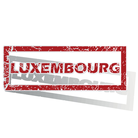 is outlined: Luxembourg outlined stamp Illustration