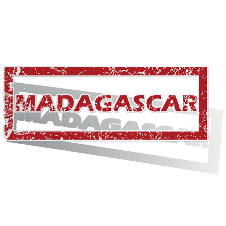 is outlined: Madagascar outlined stamp