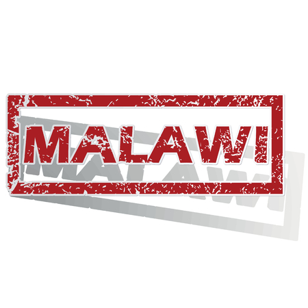 malawi: Malawi outlined stamp