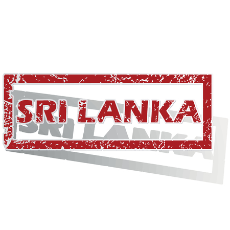 outlined: Sri Lanka outlined stamp